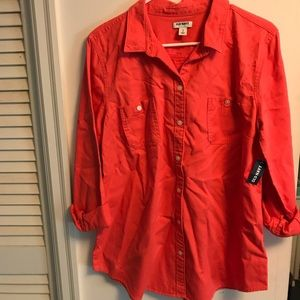 25f7f579 Old Navy Tops | Bogo Sale All Button Downs Coral Shirt Nwt | Poshmark